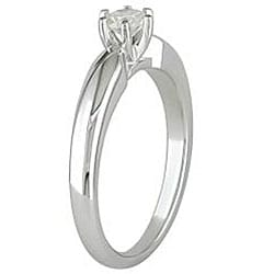 Miadora 14k White Gold 1/4ct TDW 6-Prong Diamond Solitaire Engagement Ring (G-H, I2-I3)