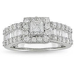 Miadora 14k White Gold 1 3/8ct TDW Diamond Engagement Ring (G-H, I1-I2)