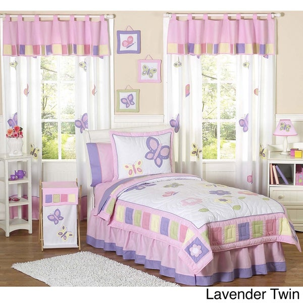 Sweet JoJo Designs Butterfly Girl's Bedding Set