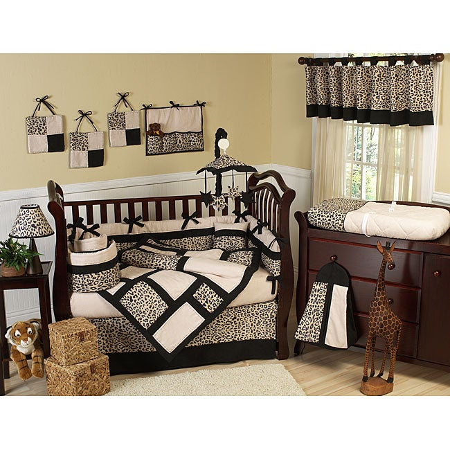 Animal Safari 9-piece Crib Bedding Set
