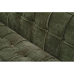 Green chenille hardwood sofa for Green chenille sectional sofa