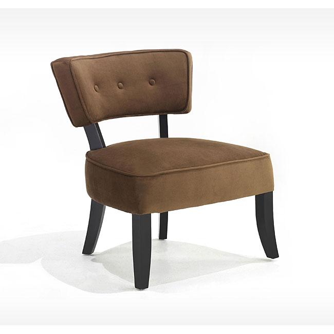 Retro Brown Velvet Accent Chair Overstock