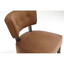 Retro Brown Velvet Accent Chair