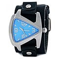 Nemesis Men's Signature Stainless Steel Blue Triangle Watch
