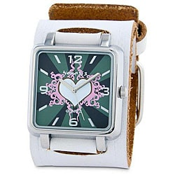 Nemesis Women's White Heart Quartz Watch