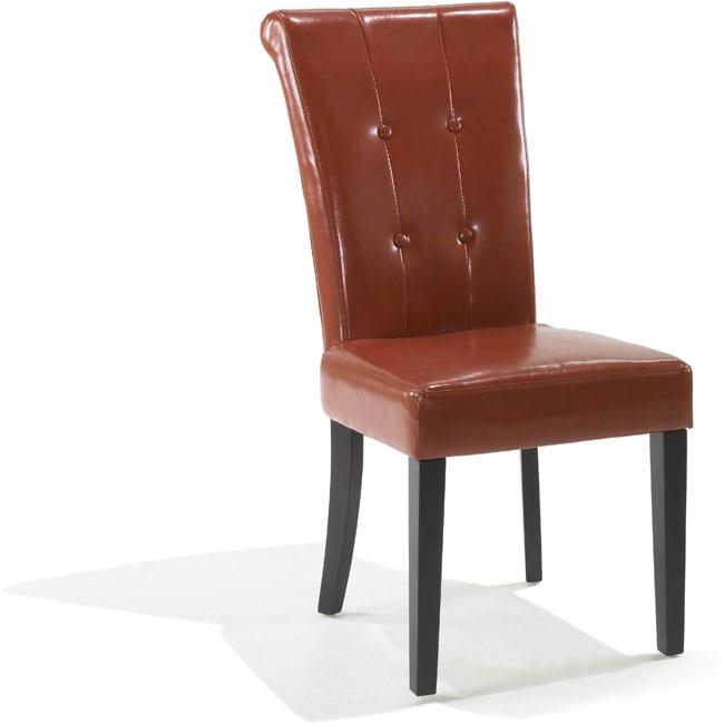 Euro-modern Burnt Orange Dining Chairs (Set of 2)