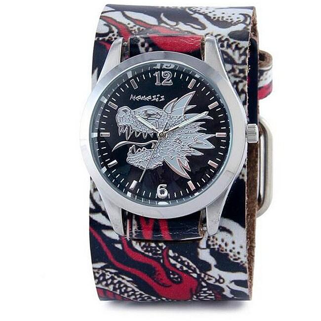 Nemesis Men's White Dragon Quartz Watch