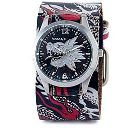 Nemesis Men's White Dragon Quartz Watch
