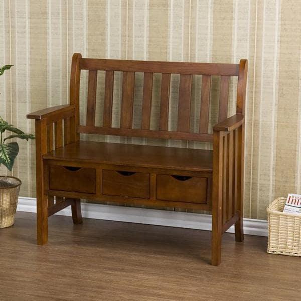 Upton Home Hillside Oak Country Bench