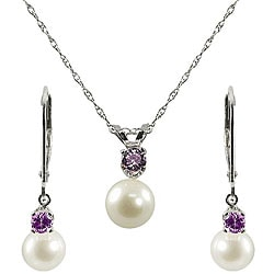 Pearls For You FW Pearl and Amethyst Jewelry Set
