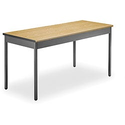 OFM Grey Steel/ Wood Utility 24x60-inch Table
