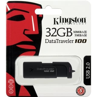 Kingston 32GB DataTraveler 100 G2 DT100G2/32GBZ USB 2.0 Flash Drive