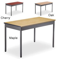 OFM Grey Steel/ Wood Utility 24x48-inch Table