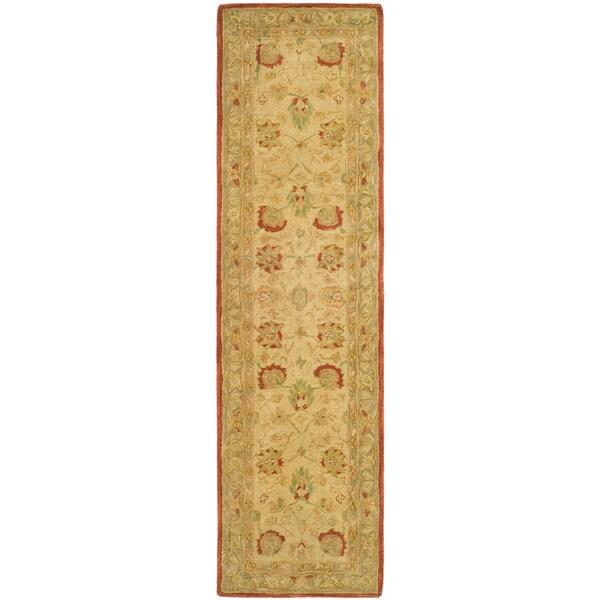 Safavieh Handmade Oushak Ivory/ Grey Hand-spun Wool Runner (2'3 x 8')