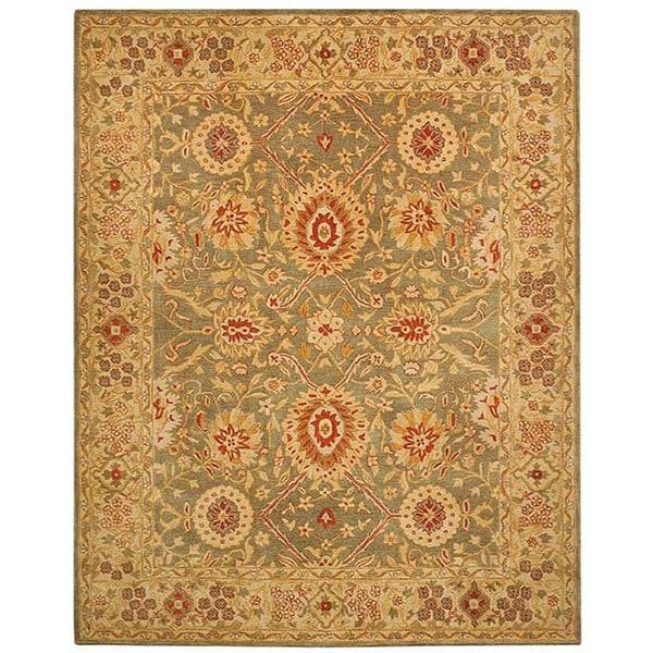 Safavieh Handmade Mahal Sage/ Ivory Wool Rug (5' x 8')