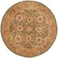 Safavieh Handmade Mahal Sage/ Ivory Wool Rug (6' Round)