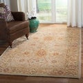 Handmade Mahal Ivory Wool Rug (4&#39; x 6&#39;)