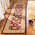 Handmade Ancestry Red/ Green Wool Runner (2'3 x 14')