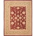 Safavieh Handmade Ancestry Red/ Green Wool Rug (9' x 12')