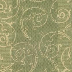 Indoor/ Outdoor Oasis Olive/ Natural Runner (2'4 x 9'11)