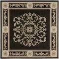 Safavieh Indoor/ Outdoor Sunny Black/ Sand Rug (6'7 Square)