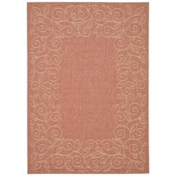"Indoor/Outdoor Rust/Sand Polypropylene Rug (4' x 5'7"")"