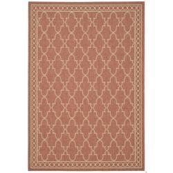 "Safavieh Rust/Sand Indoor/Outdoor Border-Floral Pattern Rug (2'7"" x 5')"