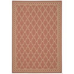 """Safavieh Indoor/Outdoor Rust/Sand Mildew-Resistant Area Rug (4' x 5'7"""")"""