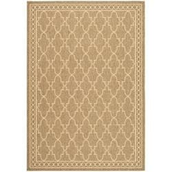 Safavieh Indoor/ Outdoor Dark Beige/ Beige Rug (4' x 5'7)