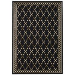 Safavieh Indoor/Outdoor Black/Sand Area Rug (2'7