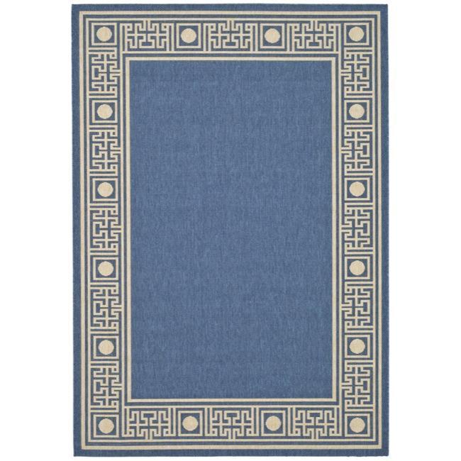 Safavieh Indoor/Outdoor Blue/Ivory Geometric Rug (2'7 x 5')