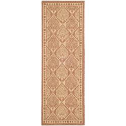 "Safavieh Indoor/ Outdoor Rust/ Sand Stain-Resistant Runner (2' 4"" x 6' 7"")"