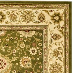 Lyndhurst Collection Majestic Sage/ Ivory Rug (9' x 12')