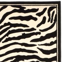 Safavieh Lyndhurst Collection Zebra Black/ White Rug (9' x 12')