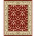 Safavieh Lyndhurst Collection Floral Burgundy/ Ivory Rug (9' x 12')