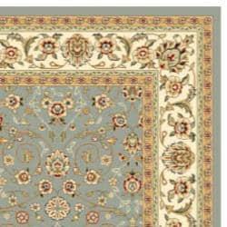 Lyndhurst Floral Motif Greyish Blue/ Ivory Rug (9' x 12')
