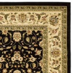 Safavieh Lyndhurst Collection Traditional Black/Ivory Oriental Area Rug (9' x 12')