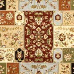 Lyndhurst Collection Traditional Multicolor/ Ivory Rug (9' x 12')