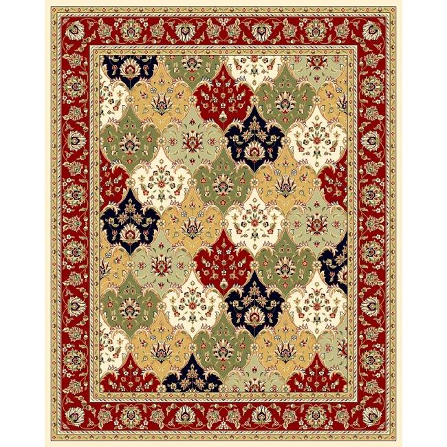 Safavieh Lyndhurst Collection Multicolor/ Red Rug (9' x 12')