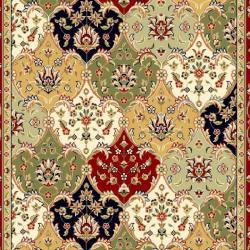 Lyndhurst Collection Multicolor/ Red Rug (9' x 12')