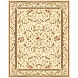 Lyndhurst Collection Traditional Ivory/ Ivory Rug (9' x 12')