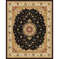 Lyndhurst Collection Traditional Black/ Ivory Rug (9' x 12')
