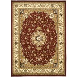 Lyndhurst Collection Red/ Ivory Rug (9' x 12')
