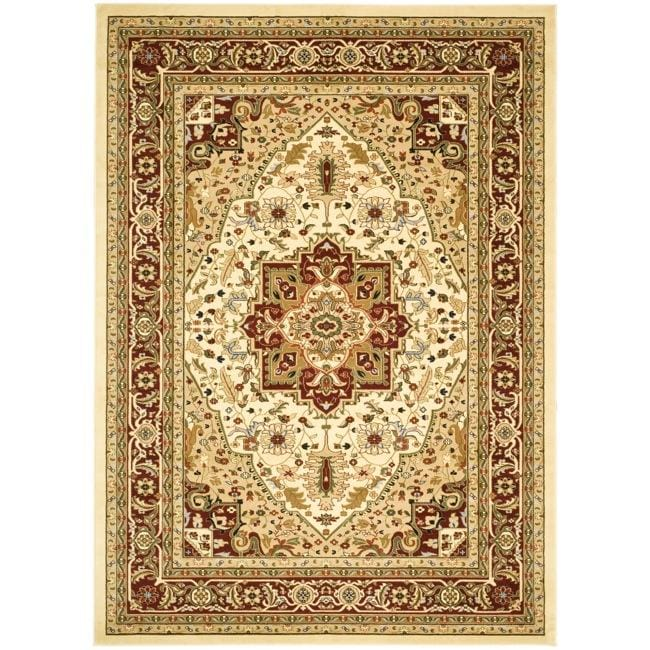 Safavieh Lyndhurst Collection Ivory/ Red Rug (9' x 12')