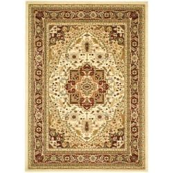 Lyndhurst Collection Ivory/ Red Rug (9' x 12')
