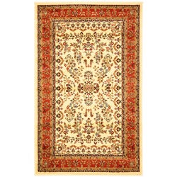 Lyndhurst Collection Ivory/ Rust Rug (9' x 12')