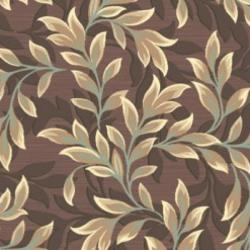 Paradise Foliage Light Brown Viscose Rug (7'10' x 11'2)