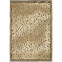 "Paradise Tiger Brown Viscose Transitional Rug (4' x 5'7"")"