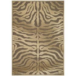 Paradise Tiger Brown Synthetic Viscose Rug (2'7 x 4')