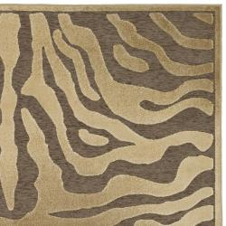 Paradise Tiger Brown Viscose Rug (4' x 5'7)